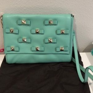 Kate spade mint bag with gold hardware